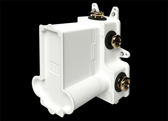 "Steinbox Concealed set 1/2"" for thermostati c shower mixer with 3 way diverter, temperature and volume control"